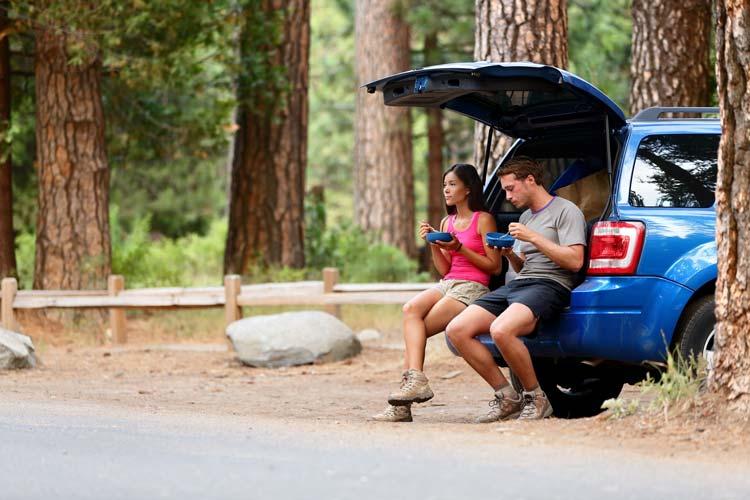Rijden door Yosemite Nationaal Park