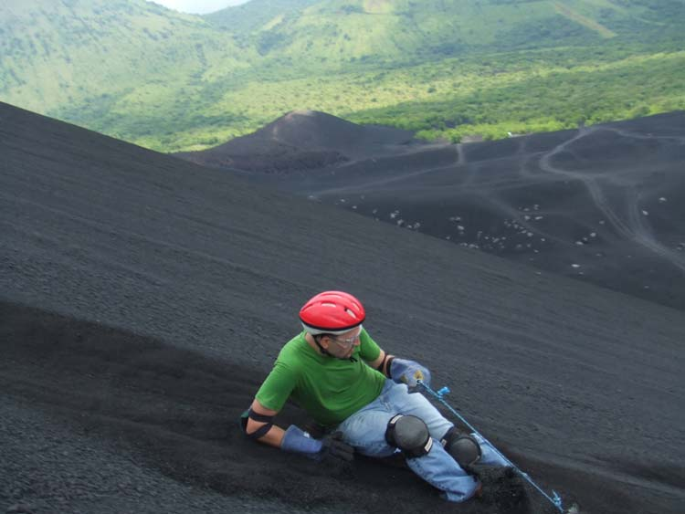 Vulkaan surfen
