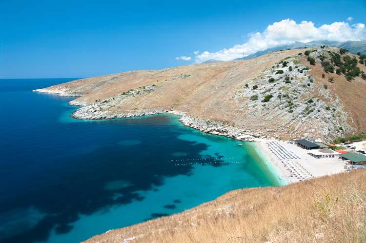 stranden in Albanië