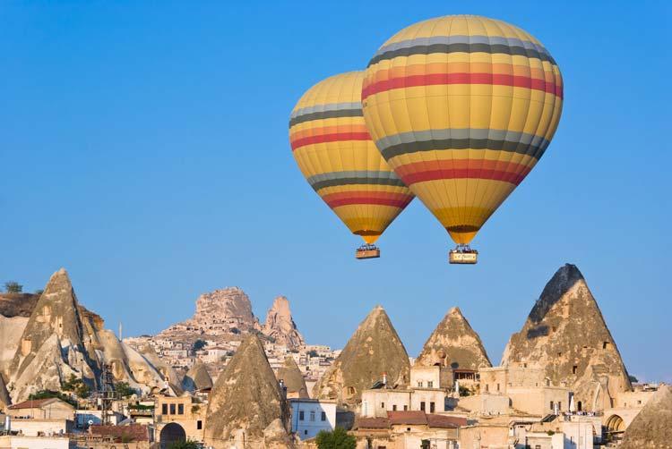 ballonvaart in Cappadocië
