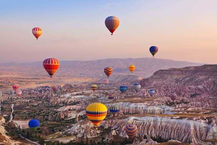 heteluchtballonnen Cappadocië Turkije